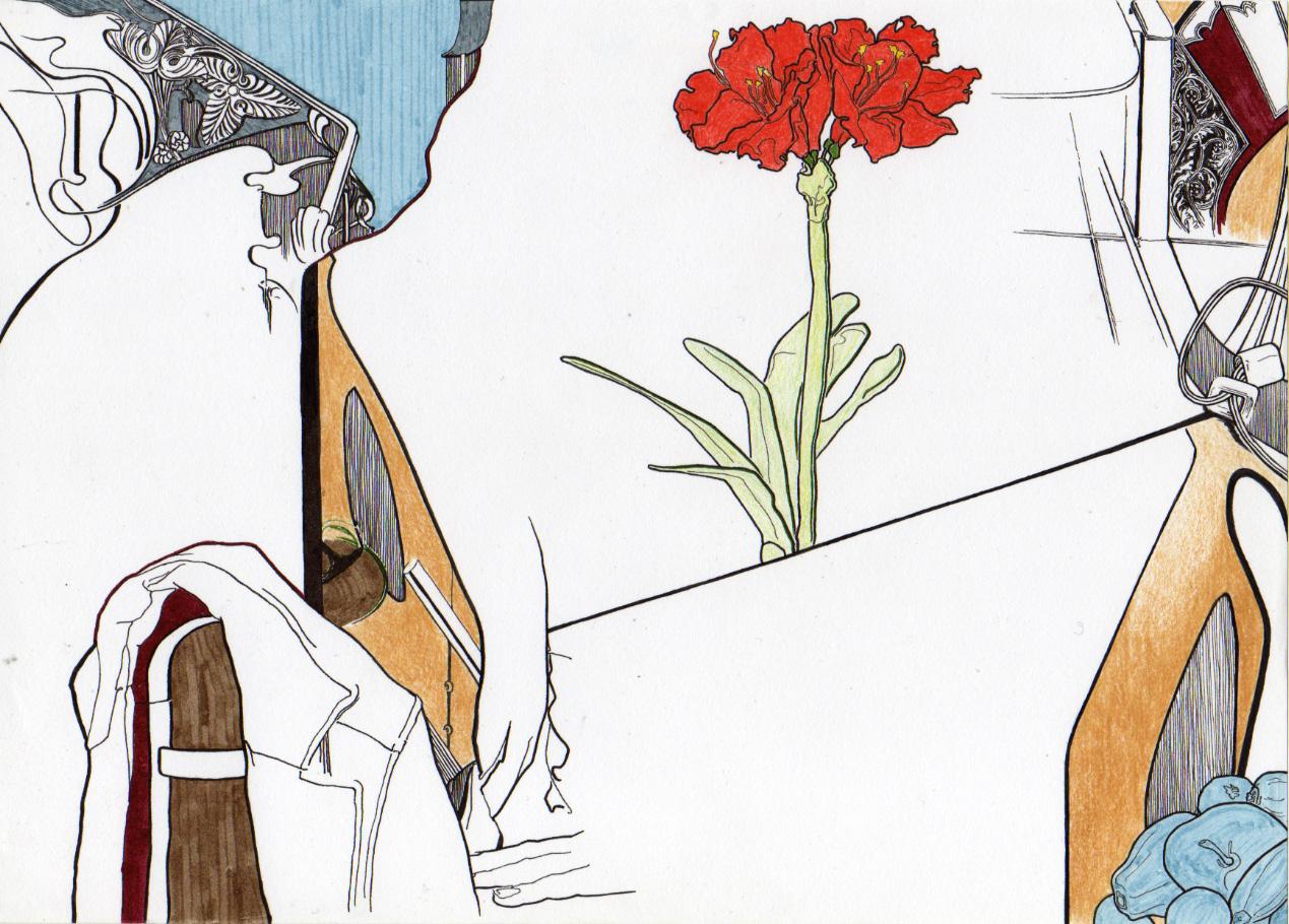 Composição 6_PEQUENO_2007, caneta de feltro e lapis de cor; 21cm x 29,5