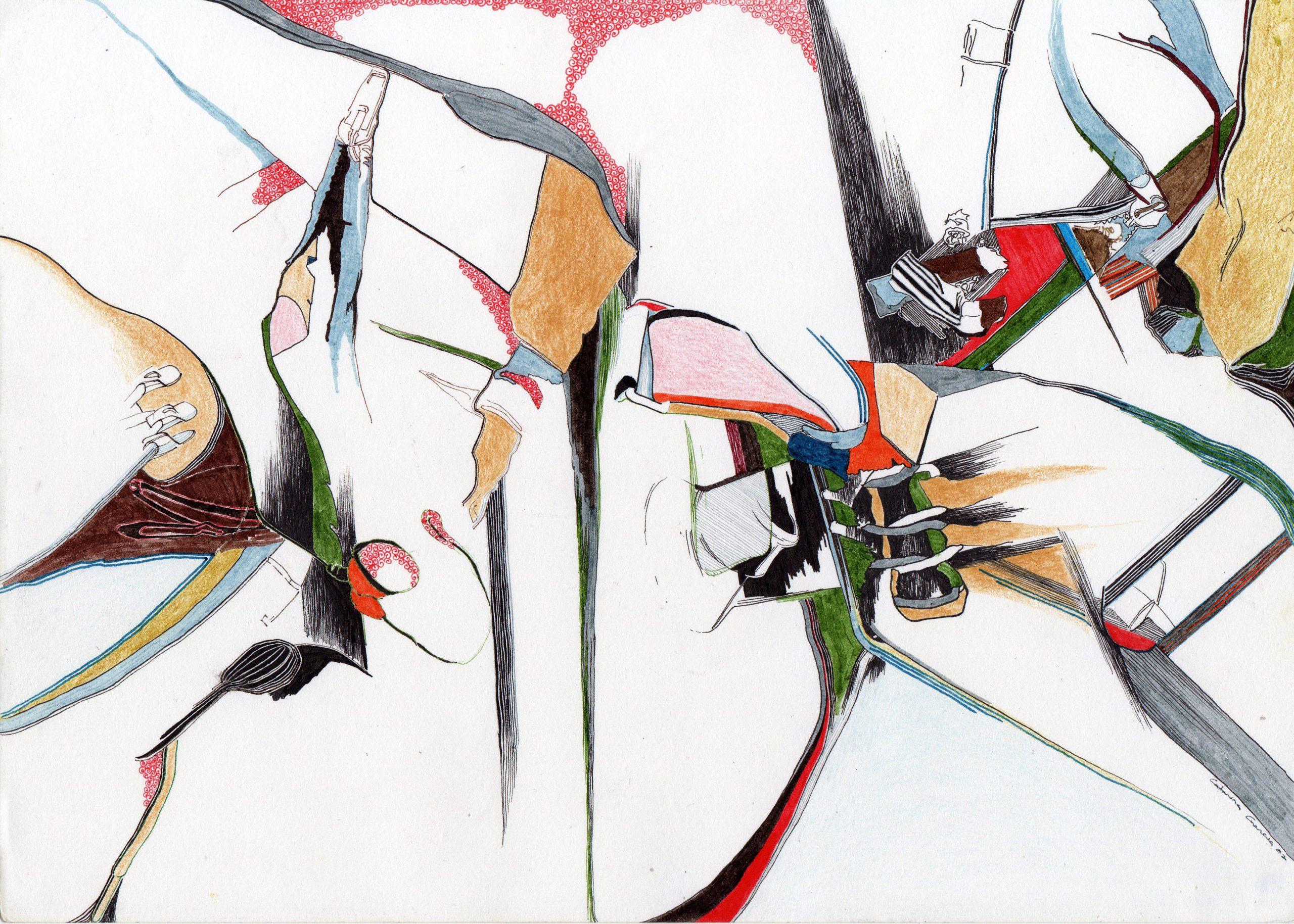 Composição 7_MEDIO_2007, caneta de feltro e lapis de cor, 21cm x 29,5