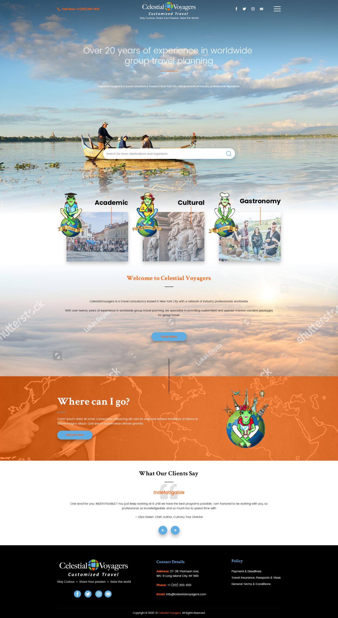 CV Homepage