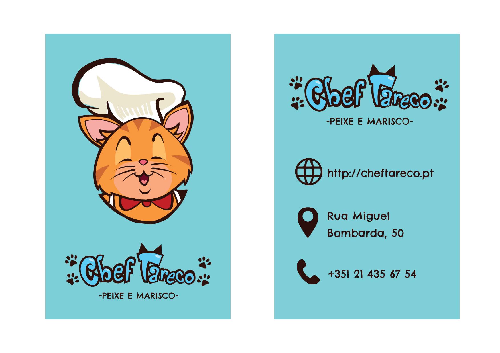 cartao contacto restaurante tareco